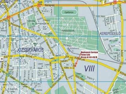 budapest 8 ker térkép Térkép   Budapest Európa Televízió online budapest 8 ker térkép